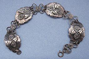 Handmade Silver Leafy Bracelet