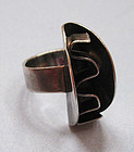 Sterling Ring, Abstract Design