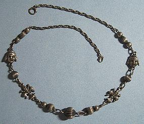 European Sterling Necklace, Peruzzi Style