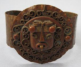 Mexican Handmade Copper Cuff