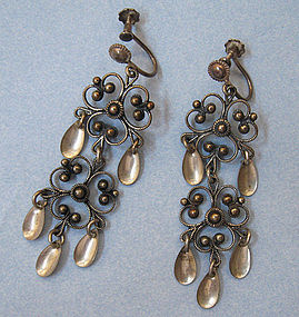 Norwegian Sterling Solje Earrings