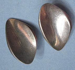 Danish Sterling Modernist Earrings