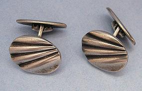 European Silver Cuff Links
