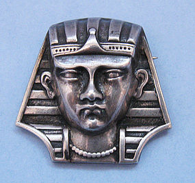 Sterling Pharoah�s Head Pin
