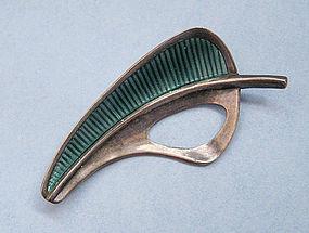 Swedish Sterling and Enamel Pin