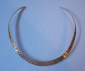 Hammered Sterling Neck Ring