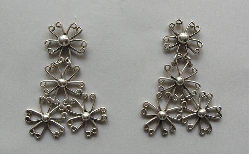 Sterling Wire Pendant Earrings