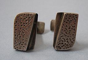 Ed Wiener Sterling Handmade Cuff Links