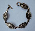 Mexican Sterling Mountain Lion Bracelet
