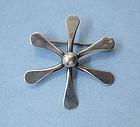 "Handmade Sterling ""Snowflake"" Pin"
