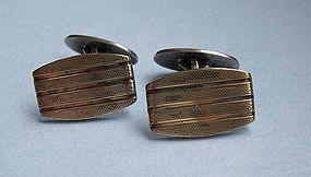European Silver-Gilt Cuff Links