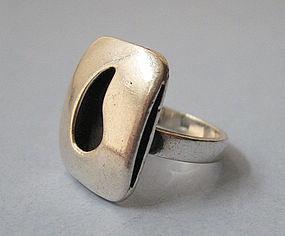 Sterling Modernist Ring, Joseph Skinger