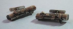 Polish Silver Naturalistic Cuff Links
