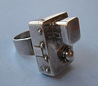 Sterling Handmade Architectural Ring, c. 1975