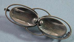 Danish Silver Bar Pin