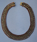Mexican Mixed Metal Necklace, c. 1960