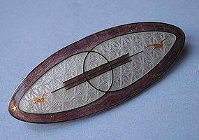 Guilloché Enameled Sterling Pin