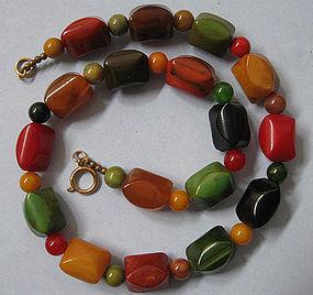 Bakelite Bead Necklace