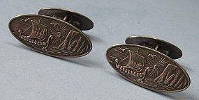 Norwegian Silver Cuff Links