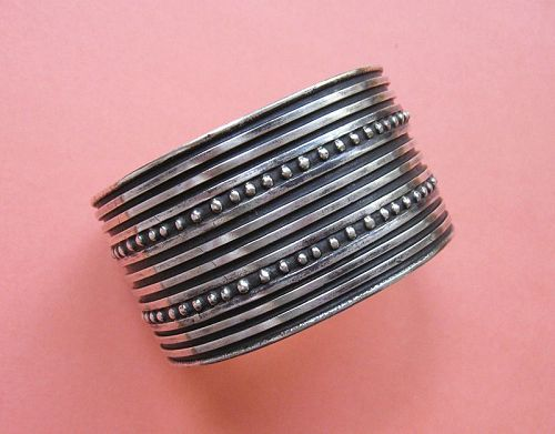 Wide Sterling Cuff, Mexican Style