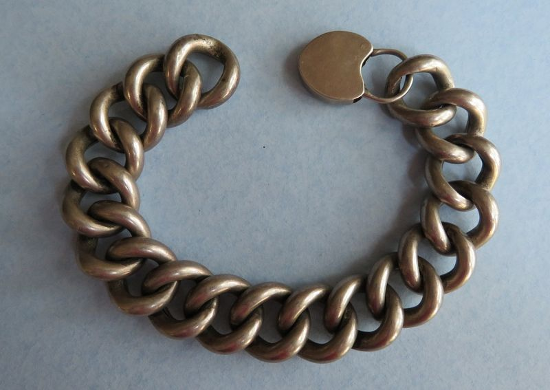 Late 19th Century Large Sterling Bracelet