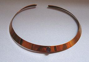 Ed Levin 'Bronze' Collar, Set With Amethyst