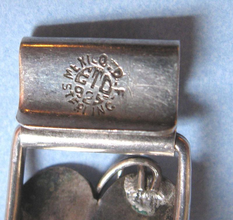 Mexican Sterling Silver Leaf Bracelet, c. 1960