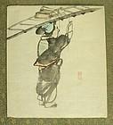 SALE Fine Japanese Shijo Drawing by Dozan. Late Edo Period