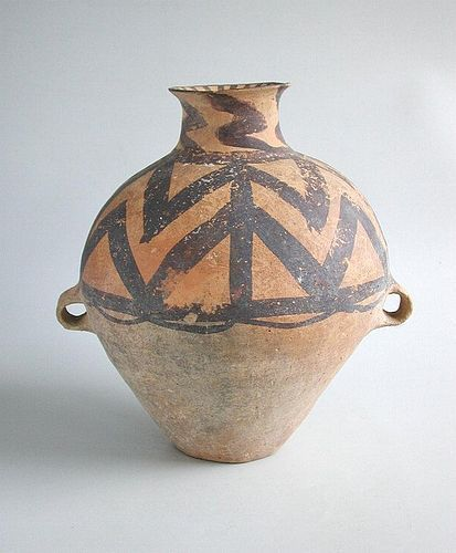 Large Chinese Neolithic Machang Painted Pottery Jar (c. 2300 - 2000 BC