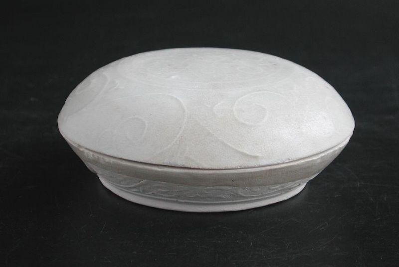 Chinese Song / Yuan Dynasty Moulded Dehua Qingbai Porcelain Box