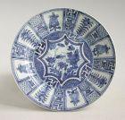 Chinese Kangxi Blue & White Porcelain Dish (Kraak)