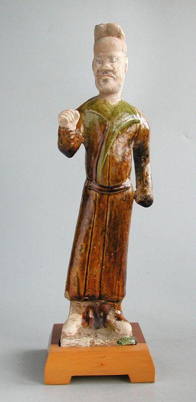 Fine Chinese Tang Dynasty Sancai Glazed Figure + Oxford TL Test