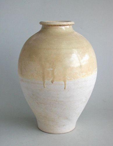 Large Chinese Tang Dynasty Glazed Stoneware Jar (AD 618 - 906)