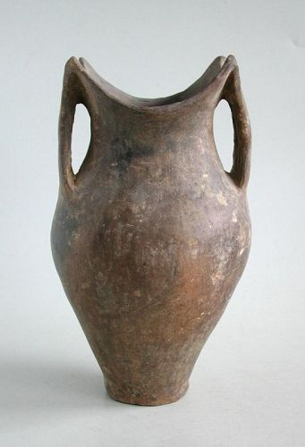 Fine Chinese Neolithic Siwa Culture Burnished Pottery Jar (c. 1350 BC)