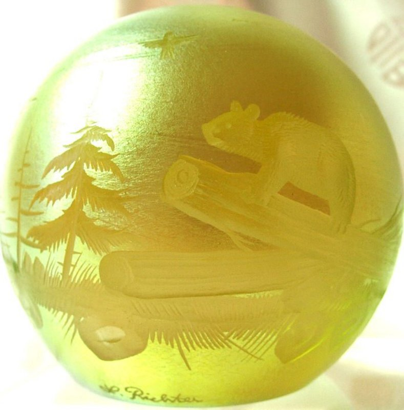 Orient & Flume Paperweight signed L Richter