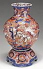 Rare Japanese Imari Vase on Stand