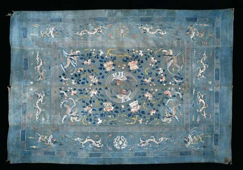 Chinese Silk Embroidered Carpet