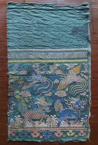 Fragment of Ming Silk Brocade Sutra Cover