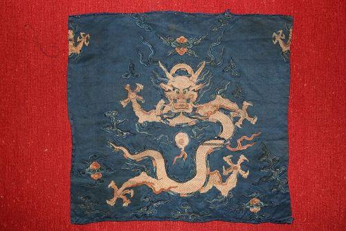 Embroidered Silk Dragon
