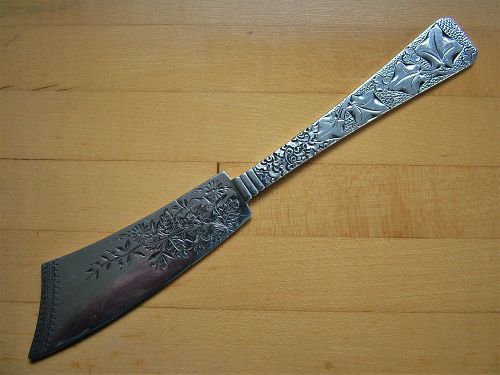 Holly, engraved master butter knife