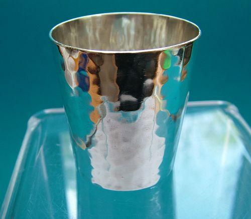 Franklin Porter hand wrought sterling shotglass