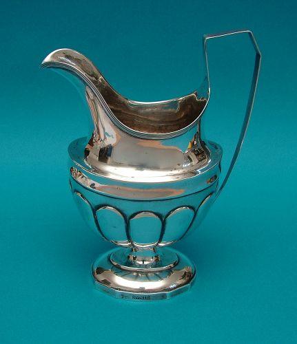 Pitman coin silver cream jug
