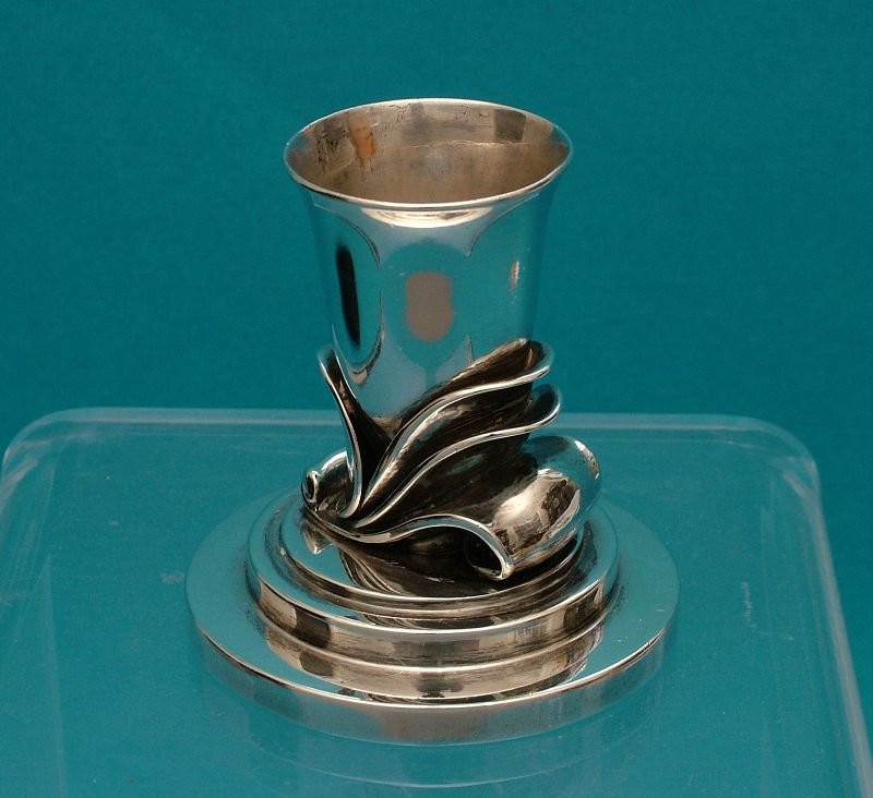 Georg Jensen sterling candle holder 601A