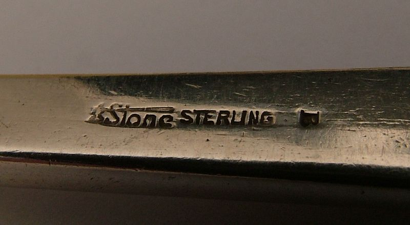 Arthur Stone pierced and chased serving spoon