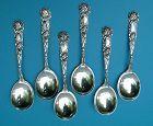 6 Alvin BRIDAL ROSE gumbo soup spoons