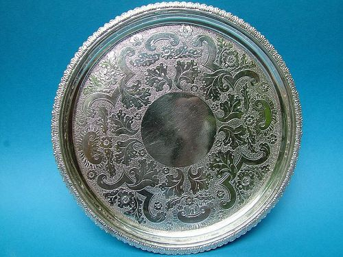 coin silver salver, Welles & Gelston, Boston circa 1820