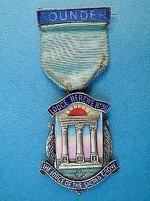 Masonic jewel, Founder, Herewen Lodge number 38,