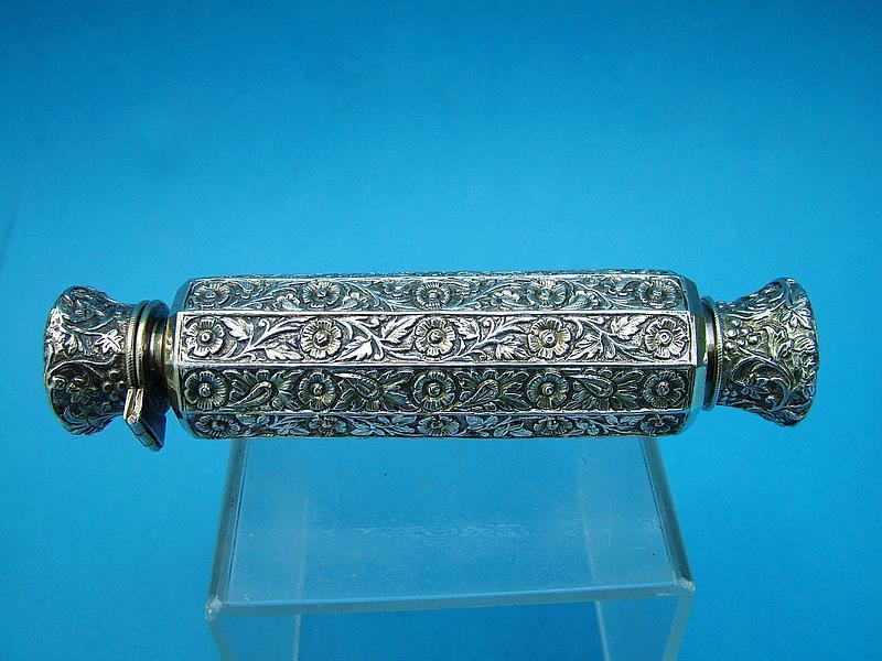 India Trade silver perfume bottle, parcel gilt