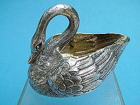 Louis Aucoc French silver swan form cream jug,Paris