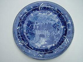 Wedgwood HOOSAC TUNNEL blue transfer ware plate